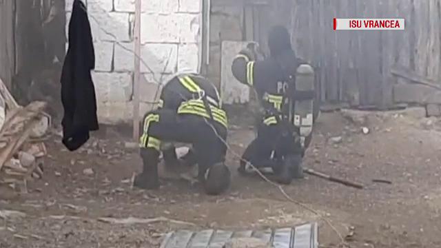 VIDEO. Momentul în care pompierii din Vrancea resuscitează 3 căței intoxicați în incendiu - Imaginea 3