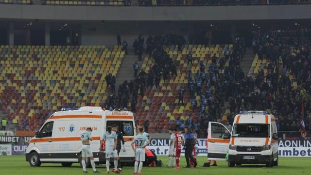 Dinamo - FCSB, scor 2-1. Meciul a fost oprit de două ori, un jucător a ajuns la spital - Imaginea 3