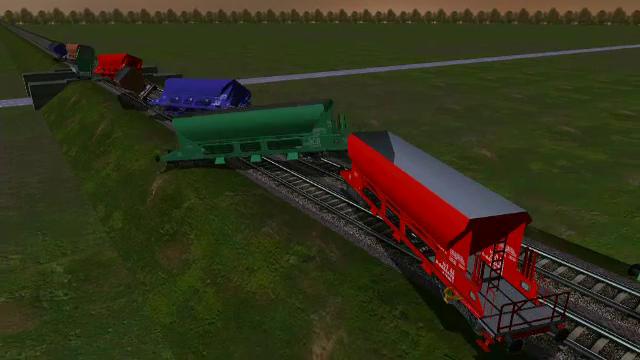 ANIMAȚIE GRAFICĂ. Cum a deraiat trenul plin cu marfă în apropiere de Caracal - Imaginea 5