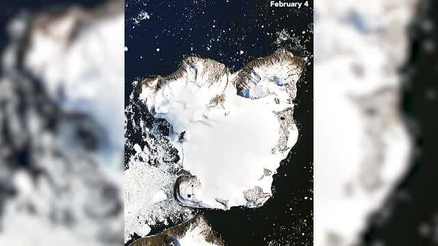 Imagini cutremurătoare făcute din satelit. Modificările ghețarilor din Antarctica în 11 zile