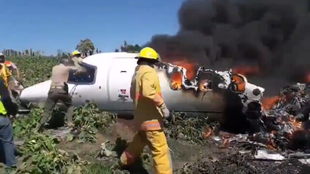 Avion prabușit în Mexic