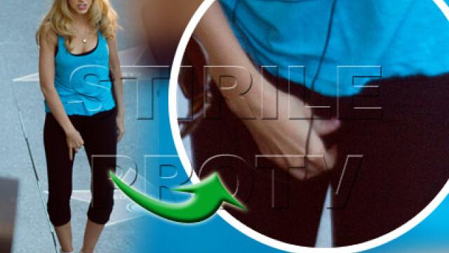 Christina Aguilera prinsa in ofsaid! I-au pus praf de scarpinat in colanti? - Imaginea 1