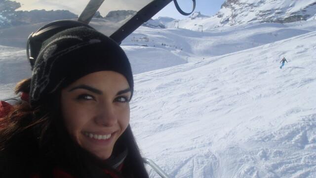 Adriela Morar si-a petrecut vacanta de iarna in Ungaria, Austria si Italia