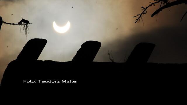 Prima eclipsa partiala de soare din 2011 a durat trei ore. VIDEO si FOTO! - Imaginea 2