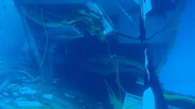 Paza de coasta italiana publica imagini in premiera cu vasul Costa Concordia sub apa. GALERIE FOTO - Imaginea 8