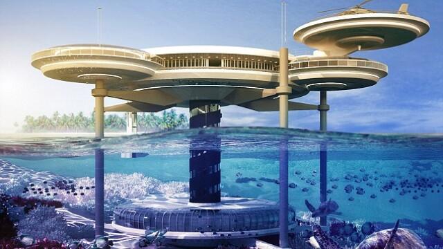 Galerie FOTO. Cel mai mare hotel subacvatic din lume va fi construit in Dubai - Imaginea 1