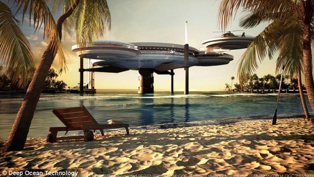 Galerie FOTO. Cel mai mare hotel subacvatic din lume va fi construit in Dubai - Imaginea 3