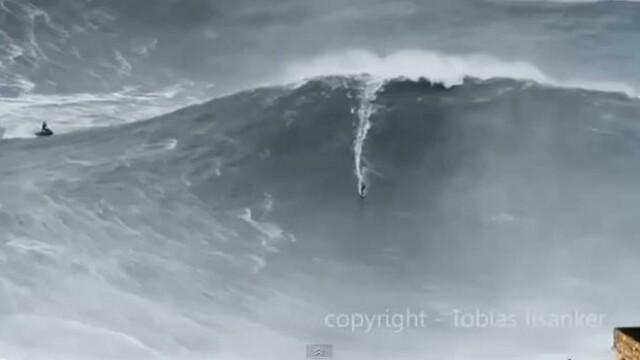 VIDEO. Un surfer stabileste noul record mondial: a invins un val inalt de 30 de metri