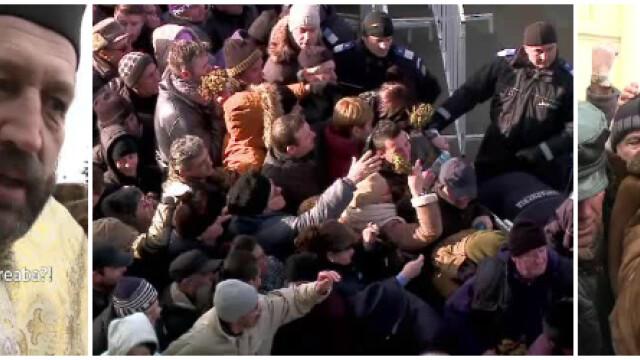 Ce au inteles din ziua de Boboteaza romanii care s-au batut pe apa sfintita? Imaginile zilei surprinse la Constanta si Sibiu