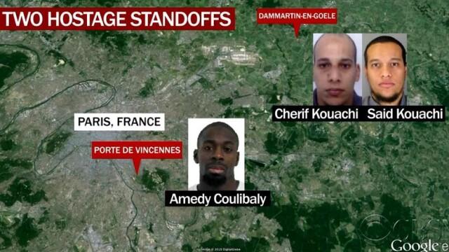 TRAGEDIE IN PARIS. Atacatorul si 4 ostatici, ucisi in asaltul de la supermarket. 4 oameni in stare grava, complicele a fugit - Imaginea 5