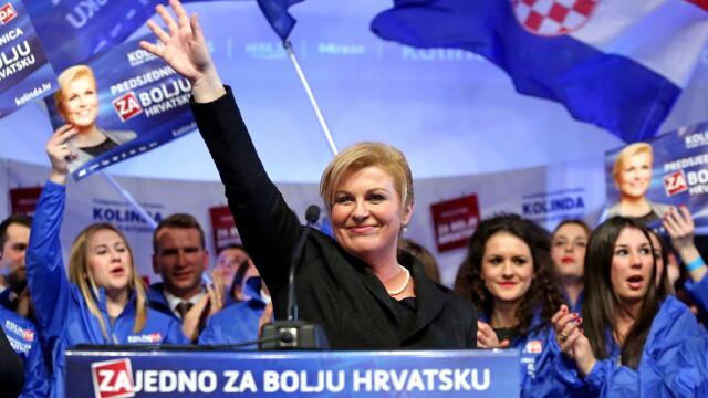 Prima femeie presedinte a unei tari din Balcani este in Croatia. A castigat spectaculos in turul 2, invingand candidatul PSD