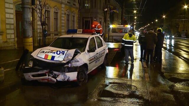 Politist implicat in accident chiar in centrul Clujului