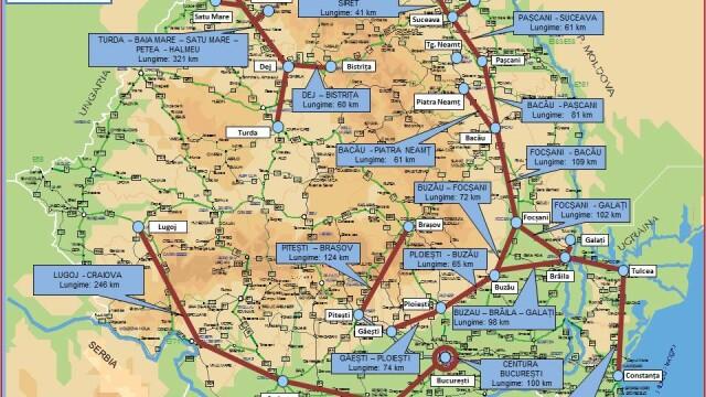 Autoritatile promit 250 km de autostrada in urmatorii doi ani. HARTILE oficiale cu traseul viitoarelor sosele din Romania - Imaginea 6
