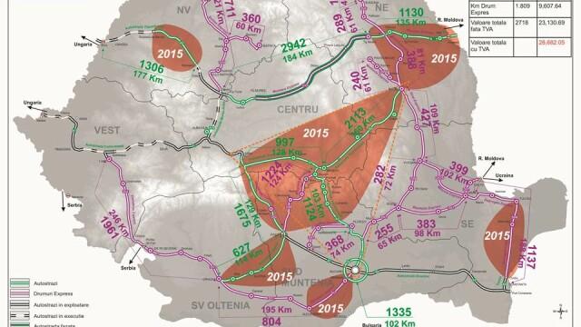 Autoritatile promit 250 km de autostrada in urmatorii doi ani. HARTILE oficiale cu traseul viitoarelor sosele din Romania - Imaginea 11