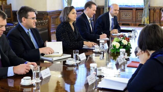 Tur de forta al asistentului secretarului de stat al SUA. Victoria Nuland s-a intalnit cu cei mai importanti oficiali romani