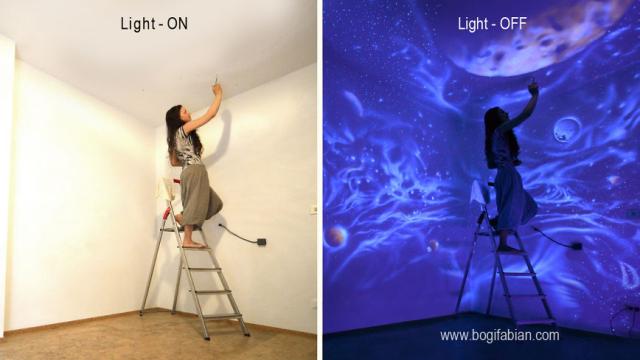 Cum arata aceasta camera dupa ce se stinge lumina. Talentul impresionant al unei artiste revolutioneaza pictura