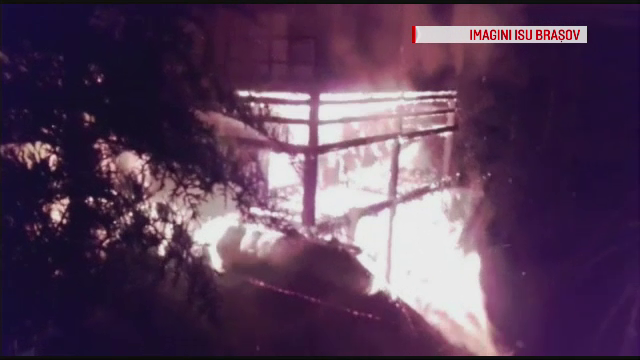 incendiu cabana Brasov