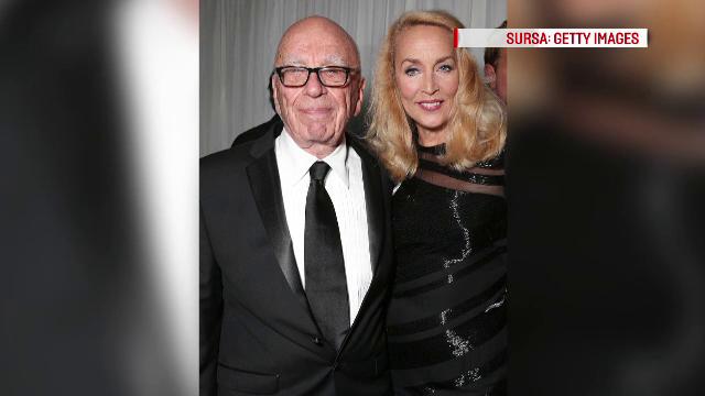 Rupert Murdoch si Jerry Hall
