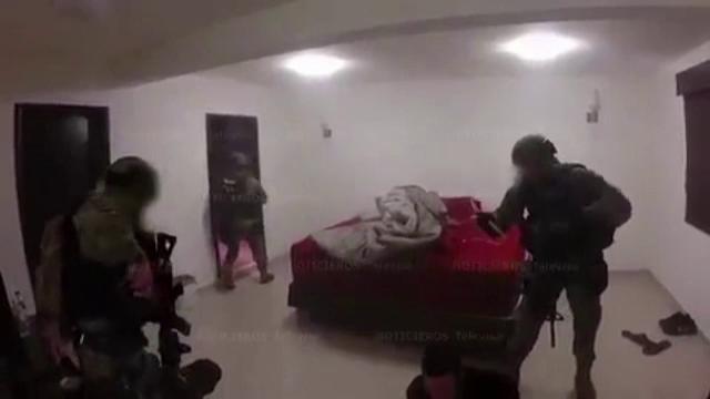 Imagini dramatice de la raidul in urma caruia a fost capturat