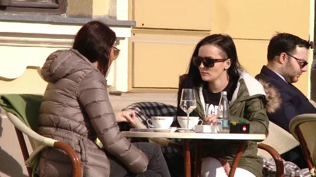 Orasul din Romania unde locuitorii au iesit deja la terase. Dupa gerul cumplit, temperaturile au crescut si cu 10 grade