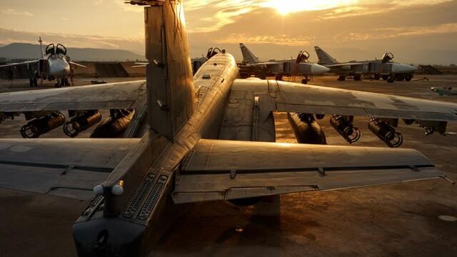 avioane rusesti la baza din Hmeymim, Siria