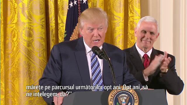 Trump sustine ca are nevoie de doua mandate pentru a \