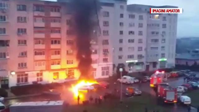Mașini arse, Târgoviște