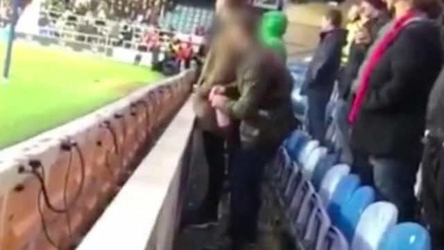 Suporterul unei echipe de fotbal, arestat după ce ar fi urinat în sticla cu apă a portarului echipei adverse
