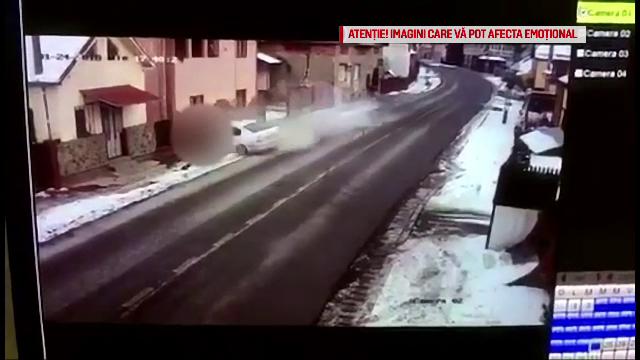 Lovit mortal pe trotuar de o mașină condusă de un tânăr de 21 ani