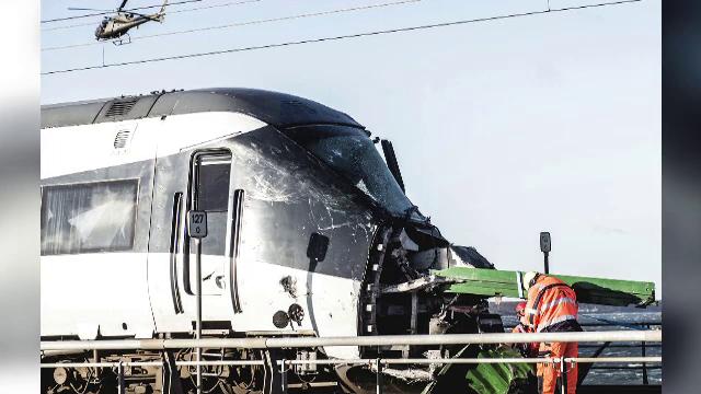 accident, trem, danemarca