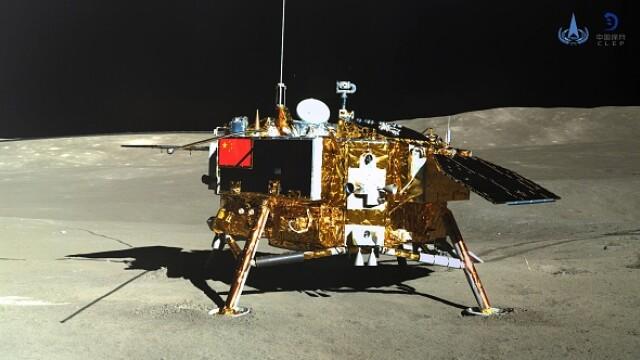 Sonda Chang\'e 4 s-a trezit din hibernare. Date surprinzătoare transmise de pe Lună