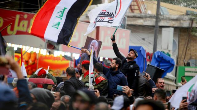 Mii de irakieni l-au omagiat pe Soleimani, la Bagdad. Unde va fi înhumat generalul - Imaginea 6