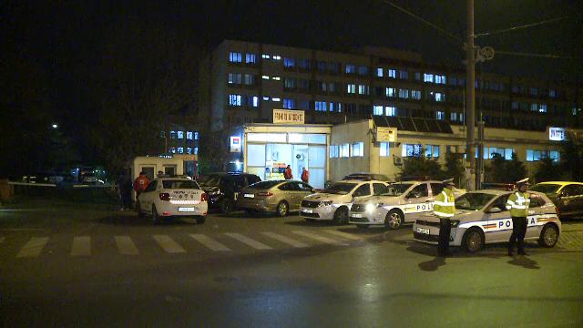 politie in fata spitalului Floreasca
