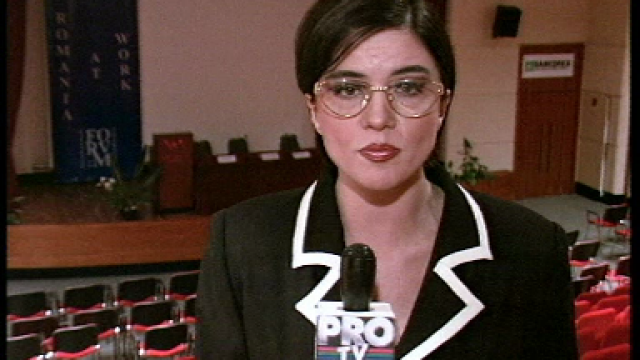 Imagini de arhivă cu Cristina Țopescu la PRO TV: corespondent și prezentator de știri