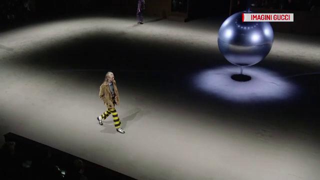 Săptămâna modei de la Milano. Hainele Gucci pentru bărbați, pline de feminitate