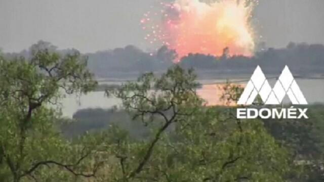 Explozie devastatoare la un depozit de artificii