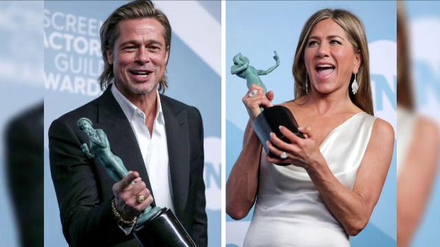 Premiile SAG. Brad Pitt și Jennifer Aniston s-au felicitat în culise - Imaginea 5