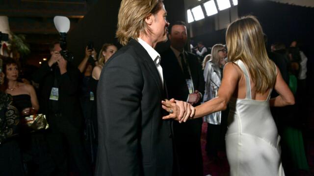 Premiile SAG. Brad Pitt și Jennifer Aniston s-au felicitat în culise - Imaginea 6