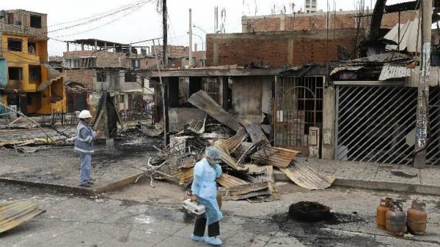 Tragedie uriașă în Peru. 15 oameni, uciși de explozia unei cisterne - Imaginea 1