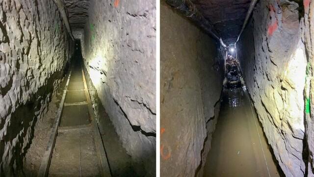 Cel mai lung tunel folosit pentru traficul de droguri între Mexic și SUA. Ce se află în interior - Imaginea 1