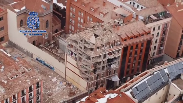 Explozie la un bloc din Madrid, soldată cu 14 victime. Care a fost cauza deflagrației
