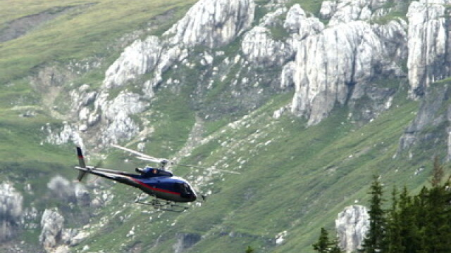 Elicopter prabusit in Bucegi