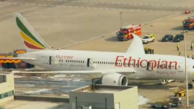 Aeroportul Heathrow din Londra, inchis dupa ce un avion a luat foc. Incident similar in Manchester