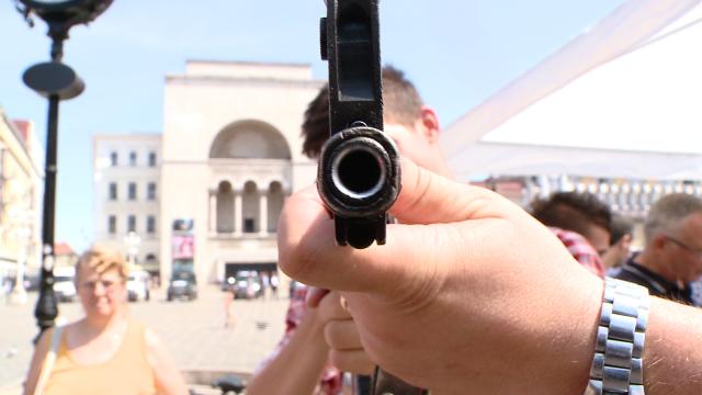 Cei 149 de ani de existenta ai Politiei de Frontiera Timis au fost sarbatoriti in Piata Operei. FOTO - Imaginea 1
