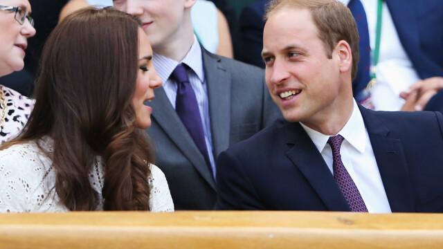 Printul William si Ducesa Catherine de Cambridge, la meciul Simonei Halep