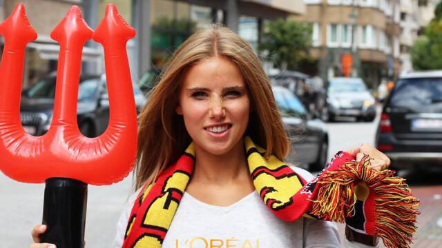 Ce i s-a intamplat unei tinere din Belgia dupa ce a mers la Campionatul Mondial. Acum o cunoaste o lume intreaga. FOTO - Imaginea 1