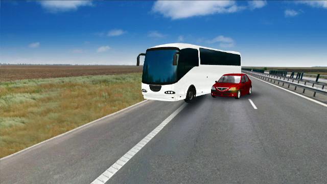 ANIMATIE GRAFICA. Cum a fost rasturnat un autocar cu 40 de oameni de un Logan. Filmul accidentului cu 33 de raniti de pe A2 - Imaginea 13