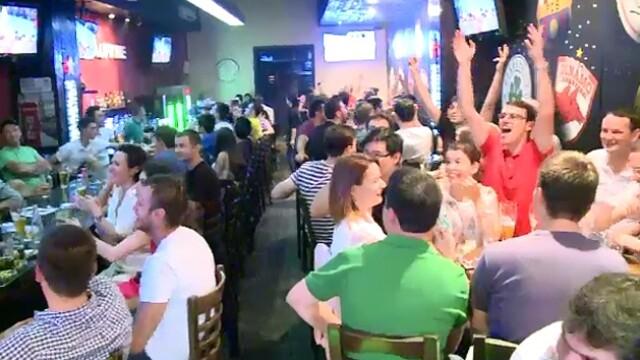 Cum s-a vazut finala Campionatului Mondial de Fotbal de la terasele din Centrul Vechi al Capitalei