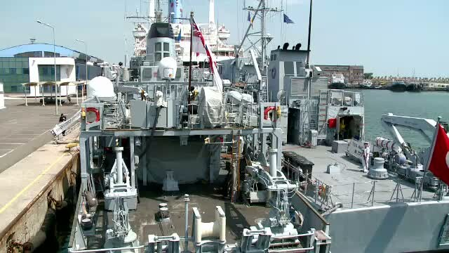 Patru nave de razboi ale NATO au ancorat la Constanta. Vasele participa la un exercitiu comun, alaturi de dragoare romanesti
