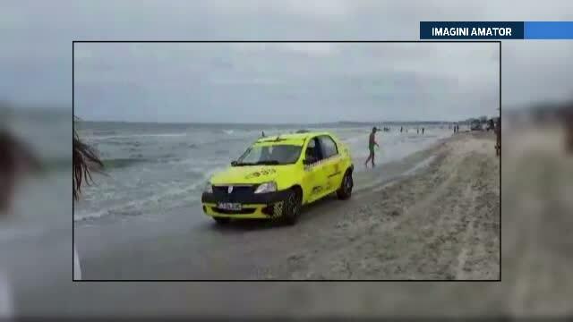 Pretul platit de taximetristul care a intrat cu masina pe plaja din Mamaia pentru a indeplini dorinta clientului